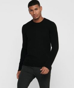 Only & Sons Howard Soft Wool Crew Neck Black