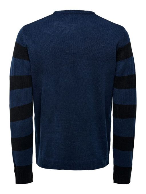 Only & Sons Christmas Pullover Blue