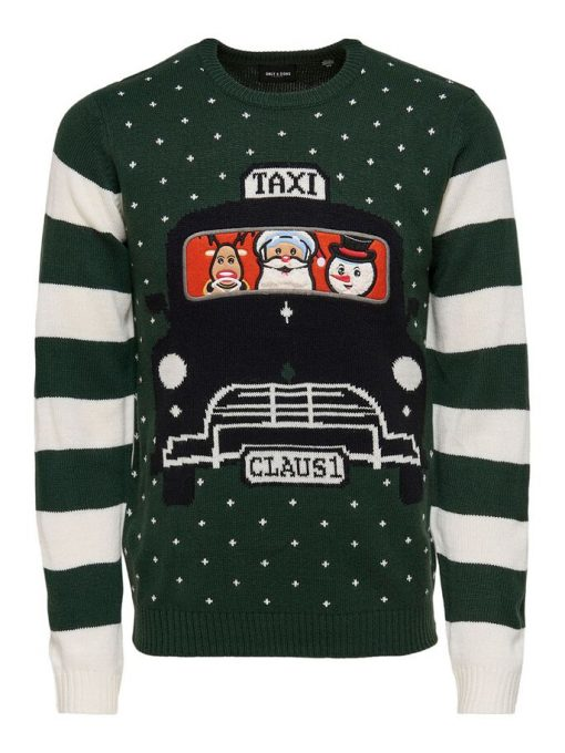 Only & Sons Christmas Pullover Green