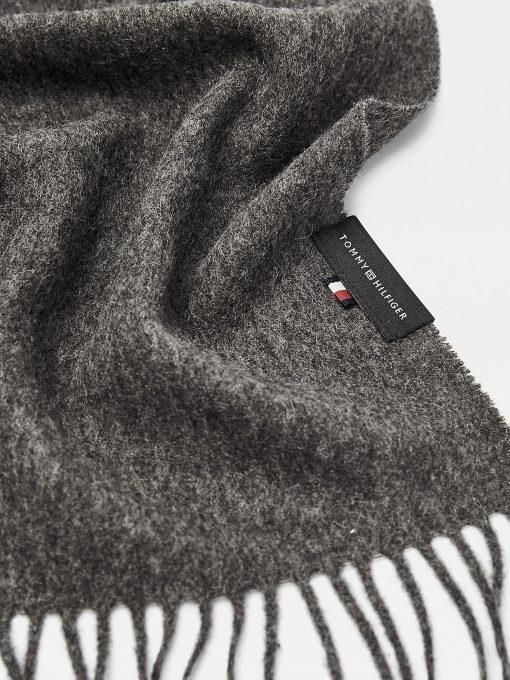 Tommy Hilfiger Uptown Wool Scarf Dark Grey Melange