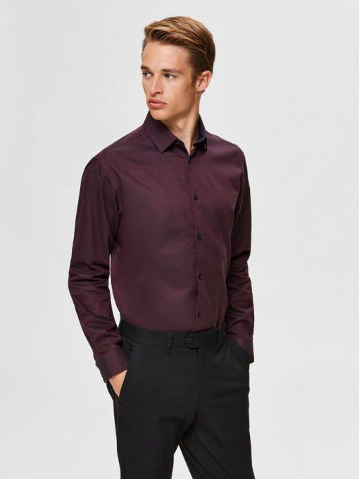 Selected Homme New Mark Slim Fit Shirt Winetasting