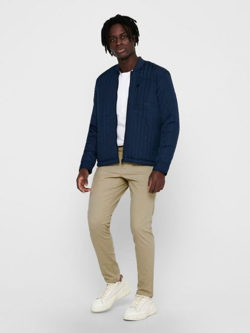 Only & Sons Bomber Quilted Jacket Dress Blues