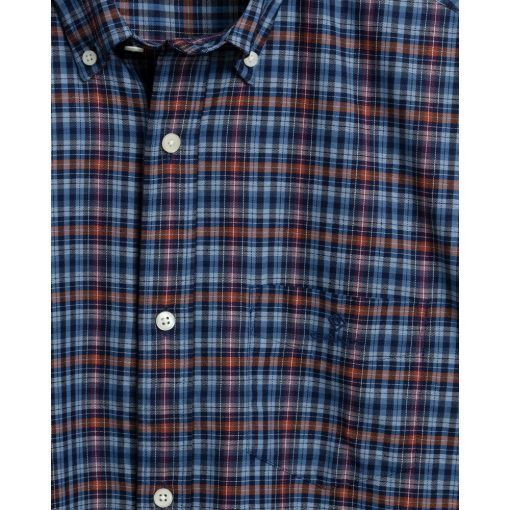 Gant Indigo Check Oxford Shirt Port Red