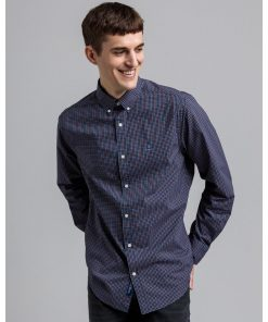 Gant Broadcloth Check Shirt Marine