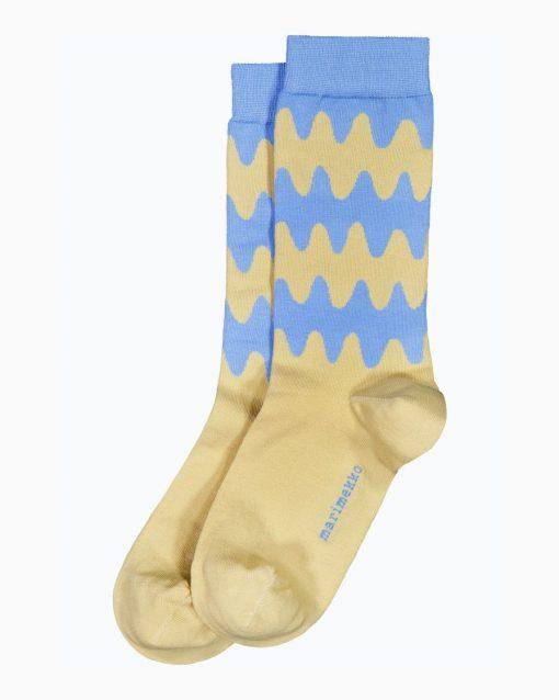 Marimekko Salla Lokki Socks Light Blue