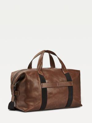 Tommy Hilfiger Leather Duffle Bag Cigar
