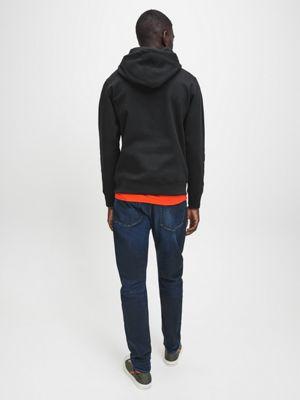 Calvin Klein Cotton Logo Hoodie Black