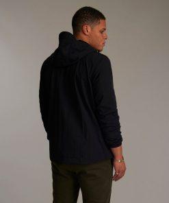 Lyle & Scott Zip Through Hooded Jacket Jet Black