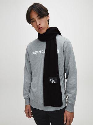 Calvin Klein Knitted Scarf Black