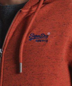 Superdry Classic Zip Thru Hoodie Arizona Orange Grit