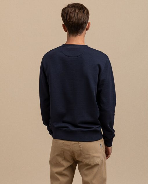 Gant Crest C-Neck Sweater Evening Blue