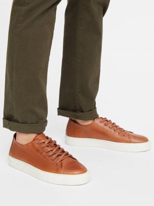 Bianco Biajay Leather Sneaker Cognac