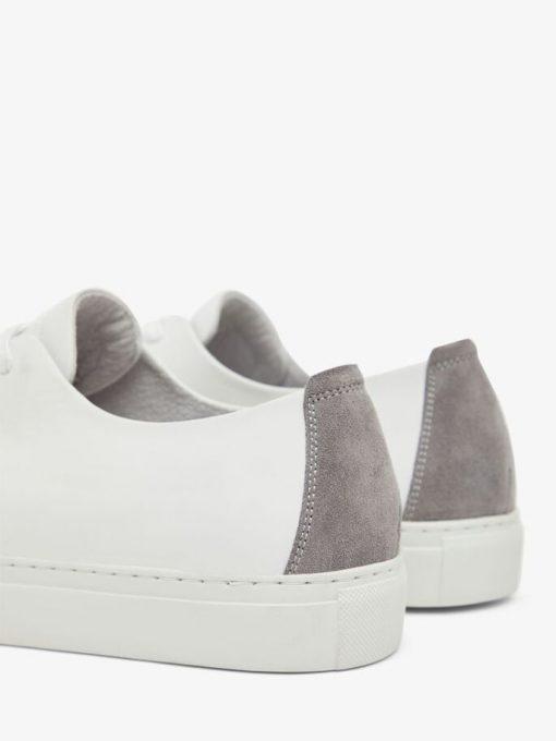 Bianco Biajay Leather Sneaker White