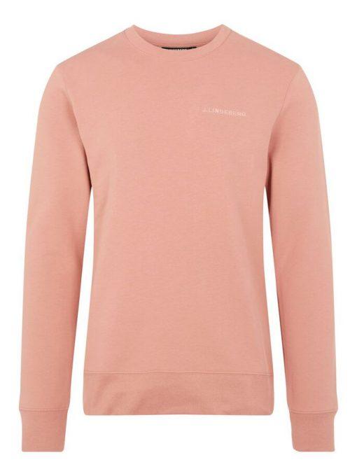 J.Lindeberg Throw Crew Neck Sweater Rose Coppar