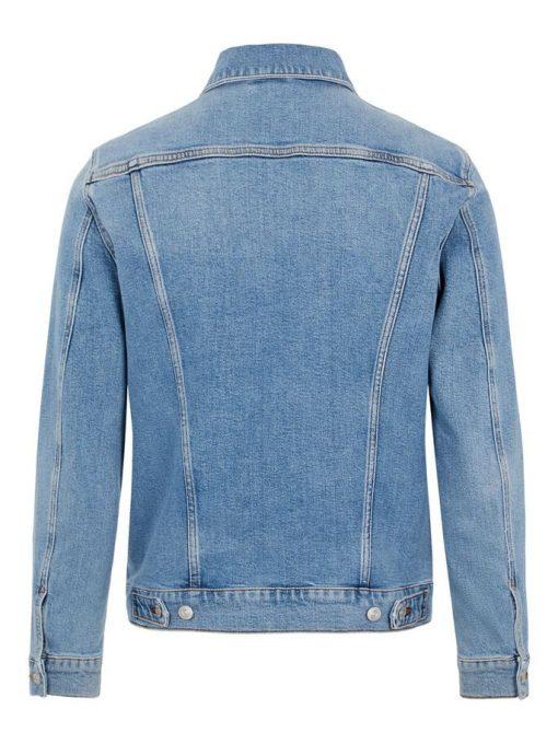 J.Lindebeg Ran Sky Wash Denim Jacket Light Blue