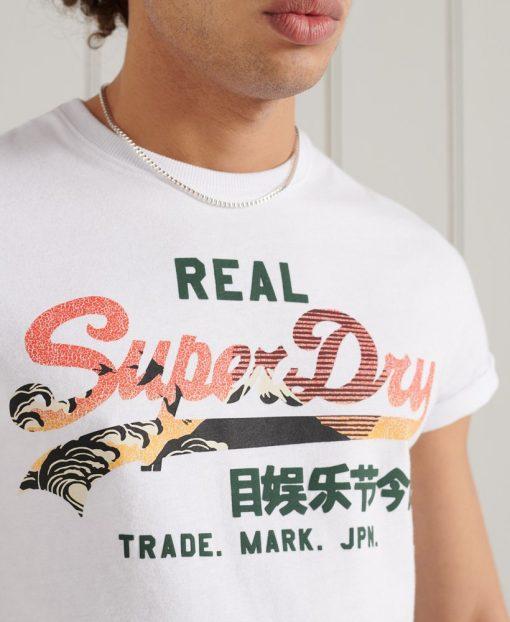 Superdry Vintage Logo Itago Tee Optic White