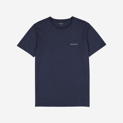 Makia Trim Backprint T-shirt Dark Blue