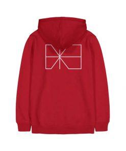 Makia Trim Hooded Sweatshirt Red