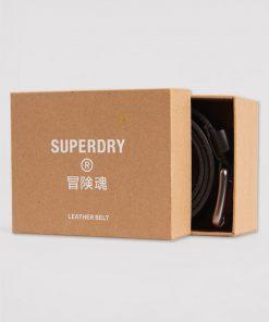Superdry Premium Boxed Leather Belt Black