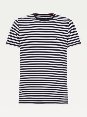 Tommy Hilfiger Organic Cotton Stripe T-shirt Desert Sky/White