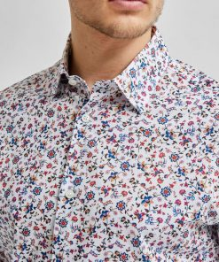 Selected Homme Willow All Over Print Shirt White