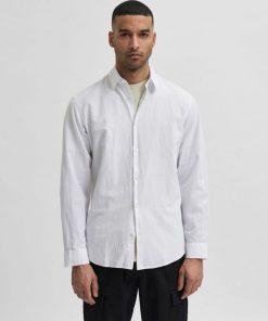 Selected Homme New Linen Shirt White