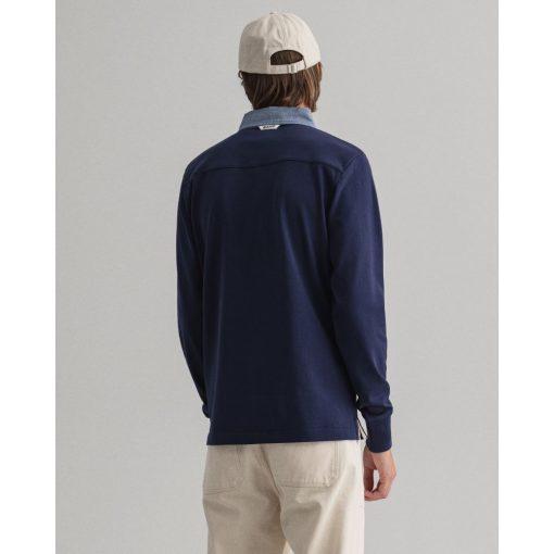 Gant Original Heavy Rugger Shirt Evening Blue