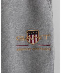 Gant Archive Shield Sweat Pants Grey Melange