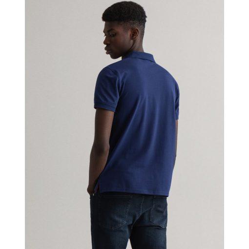 Gant Contrast Collar Pique Shirt Persian Blue