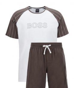 Hugo Boss Trend Short Set Dark Green