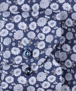 Navy Floral Slimline Shirt Navy