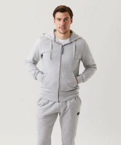 Björn Borg Centre Zip Hood Light Grey Melange
