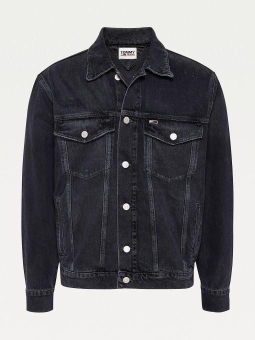 Tommy Jeans Oversize Trucker Jacket Black