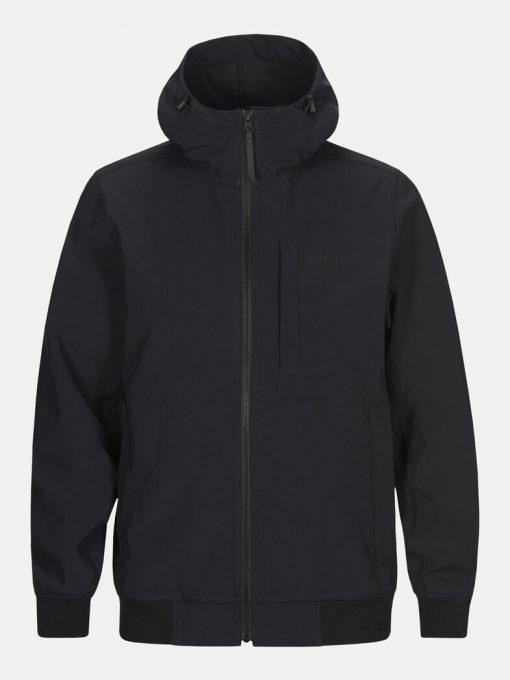 Peak Performance Softshell Hood Jacket Men Black