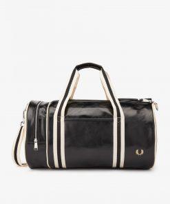 Fred Perry Classic Barrel Bag Black