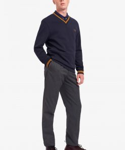 Fred Perry Tipped Loopback Sweatshirt Navy