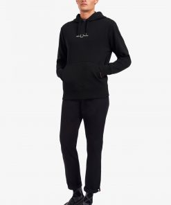 Fred Perry Embroidered Hooded Sweatshirt Black