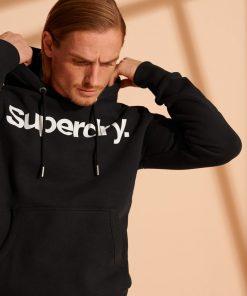 Superdry Core Logo Hoodie Black