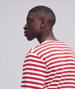 Makia Verkstad Long Sleeve Red/White