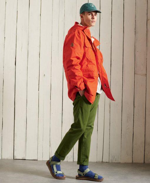 Superdry Mountain Parka Coat Bold Orange
