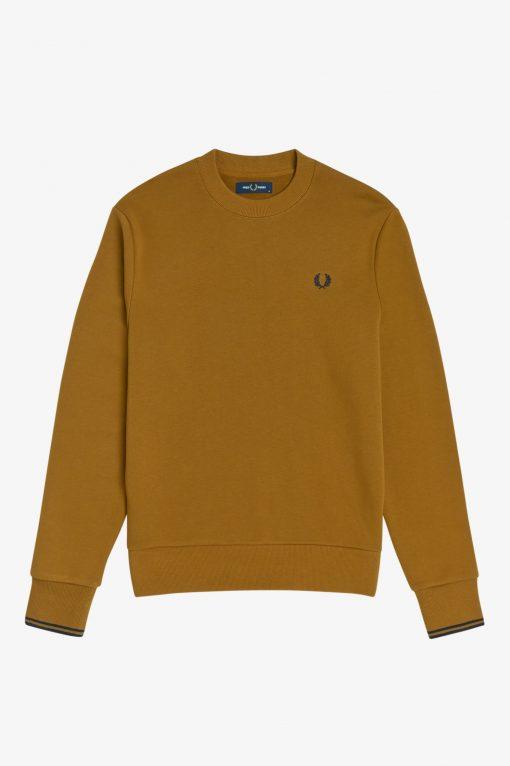Fred Perry Crew Neck Sweatshirt Caramel