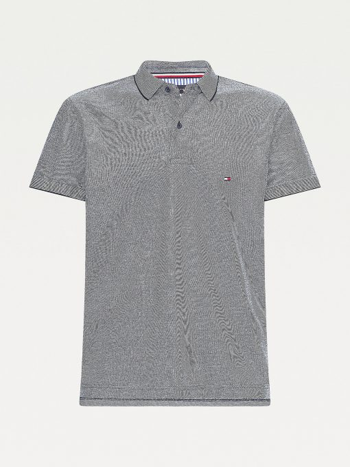 Tommy Hilfiger Oxford Regular Polo Shirt Desert Sky