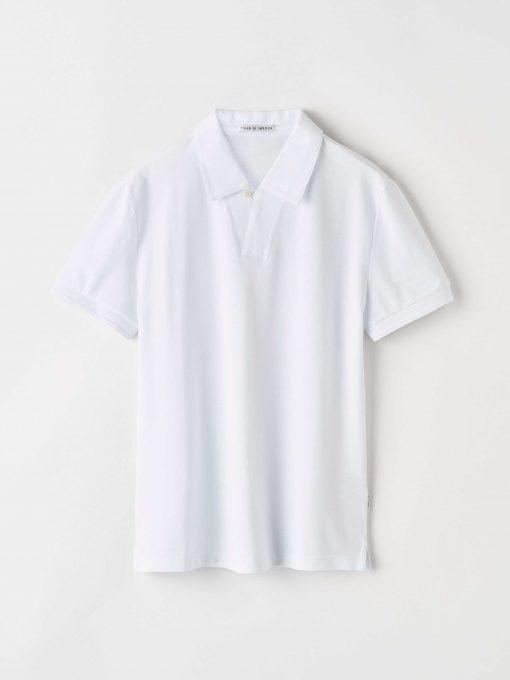 Tiger of Sweden Aderico Pique Shirt Pure White