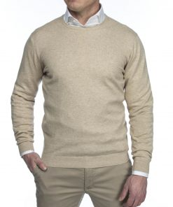 Hansen & Jacob Cotton Cashmere Crewneck Sand
