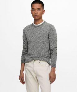 Only & sons Flex Linen Crewneck Black