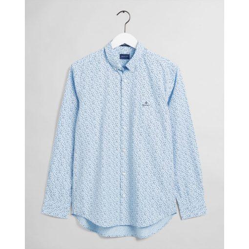 Gant Regular Fit Star Burst Shirt Powder Blue