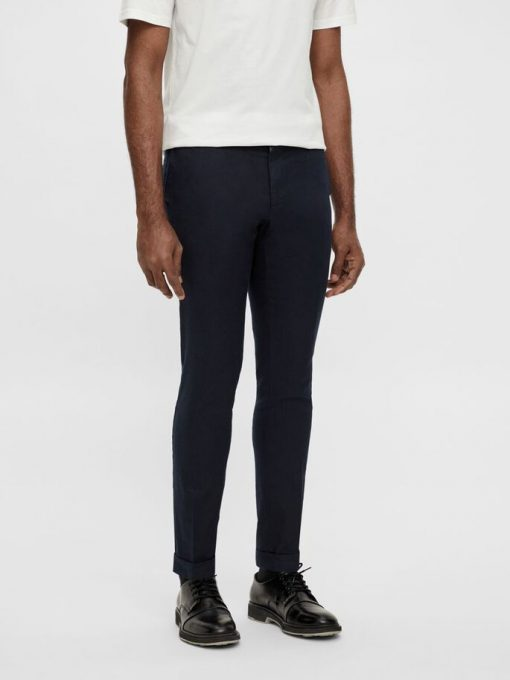 J.Lindeberg Grant Linen Stretch Trousers Navy