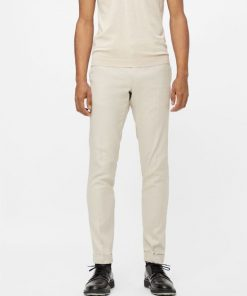 J.Lindeberg Grant Linen Stretch Trousers Sand Grey