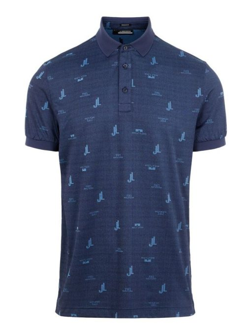 J.Lindeberg Regular fit Polo Shirt Bridge Ocean Blue
