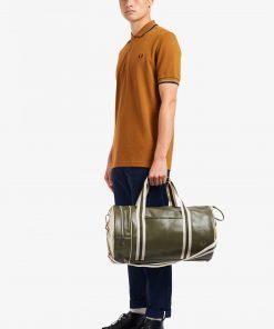 Fred Perry Classic Barrel Bag Irish Leaf